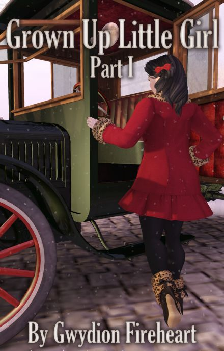 A picture of Percy, a character wearing a red peacoat, stepping into an ancient model T truck